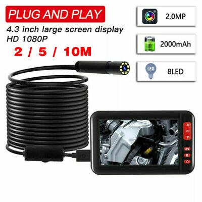 2/5/10 Meter Waterproof Wifi Inspection Camera 8 LED Camera With 4.3 inch Screen