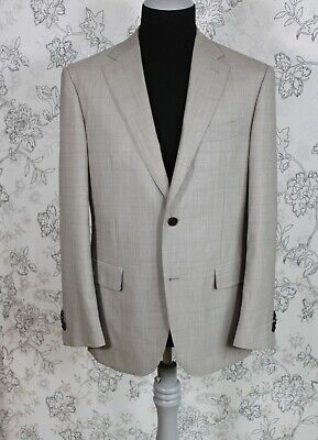 SUITSUPPLY Suit Supply Napoli Wool Check Blazer sz 50 R US/UK 40 Drop 7R Mint