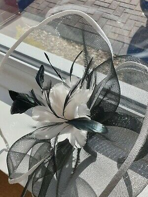 Black And White Feather Wedding Headwear RRP £50