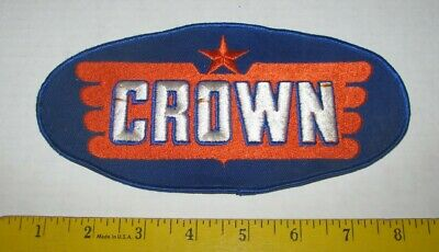 "Vintage Crown Gas Station Back Patch 8"" Nos"
