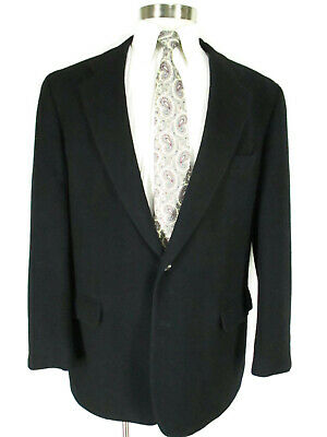 Brooks Brothers Mens Black 2 Btn Camel Hair Blazer 44L