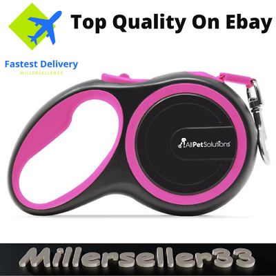 Heavy Duty Large Dog Puppy Extendable Retractable Lead Set 3M Up To 15KG Dogs