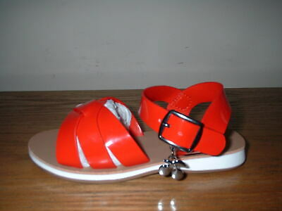 Girls Next Red Patent Buckle Fasten  Sandals Size 6/23 Infant