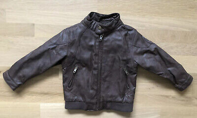 Baby Gap Faux Lether Brown Zip Jacket 4 Year Old