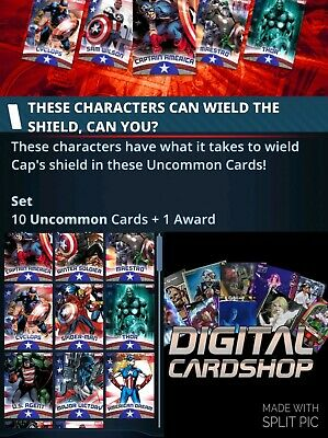 Topps Marvel Collect Card Trader SHIELD WIELDERS 2020 Wield The Shield Lot of 4