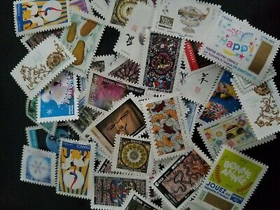Lot De 50  Timbres lettre verte 20g France  Affranchissement  ..10