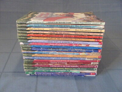 Magic Tree House Lot 20 Books, Merlin Mission,Research Guide- Mary Pope Osborne