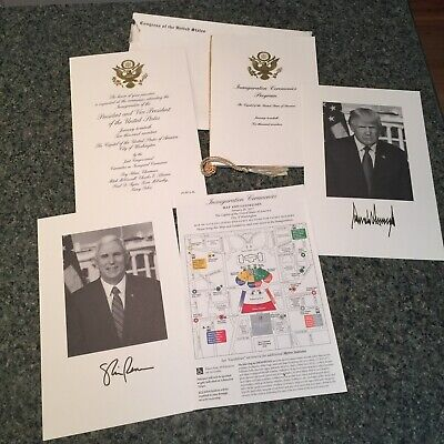 Mike Pence President Donald Trump Inauguration Invitation 2017 Program Invite