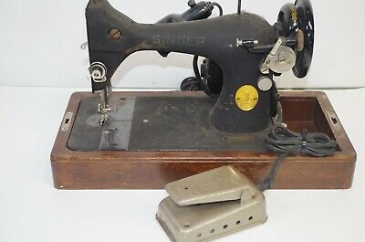 Vintage Singer Sewing Machine Model 128 AS IS Needs Repair