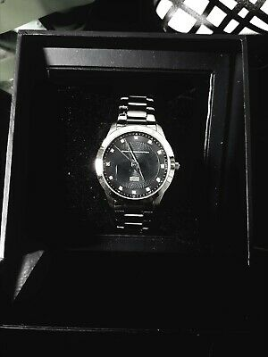 French Connection Quartz Mens watch with genuine diamond hour markers - New