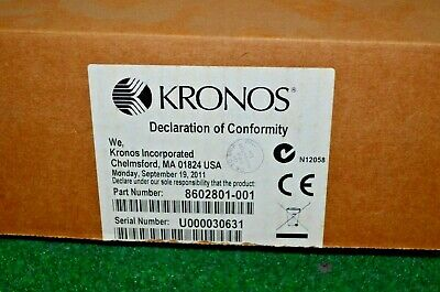 Kronos 8602801-001 4500 Touch ID Biometric Fingerprint Scanner NEW