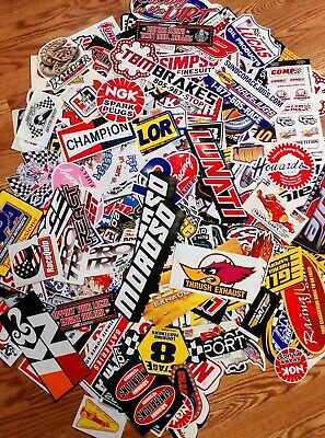 50+ Racing  Stickers Race Car Tool Box  Dragster Hot rod with a racing koozie