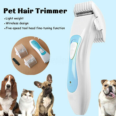 Rechargeable Cat Dog Clipper Cordless Pet Clippers Hair Shaver Grooming  U