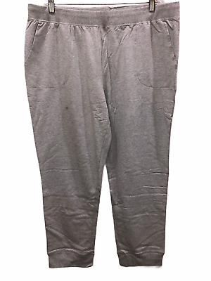 Denim & Co. Active Regular Pull-On Knit Jogger Pants Heather Grey X-Large Size