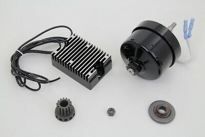 Black 12 Volt Alternator Generator Conversion Kit for Harley XL Sportster Models