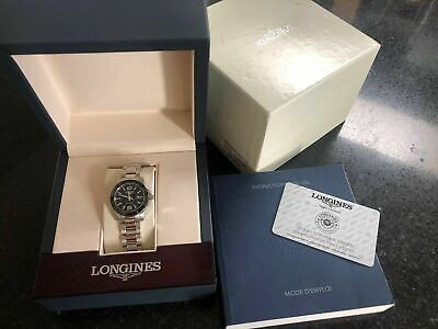 Longines Conquest Black Dial Stainless Steel Ladies Watch L32574566 L3.257.4.56.