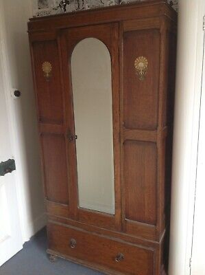 Wardrobe..Small Victorian Single Wardrobe..darkish oak