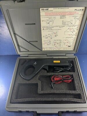 Fluke 80i-kW Current Power Probe, Excellent, Hard Case, Accessories