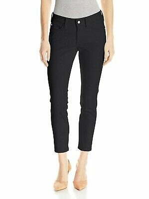 NYDJ Women's Jeans Alina Convertible Ankle Black  Stretch Pants 6P Petite
