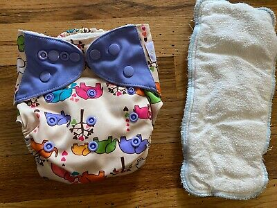Ecoable Bamboo, All in One Cloth Diaper AIO, snap closures, one size