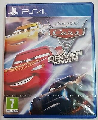 Cars 3 - Driven To Win - Disney Pixar - PS4 - New and PS4 Sealed