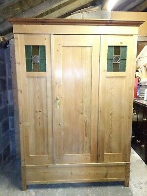 Antique Pine Triple Wardrobe - Delivery & Assembly Available