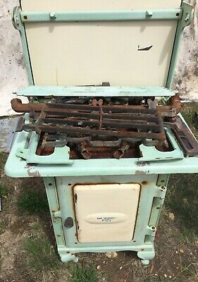 Antique Oven - Vintage Metters Sydney Gas Stove - Old Enamel Free Standing Oven