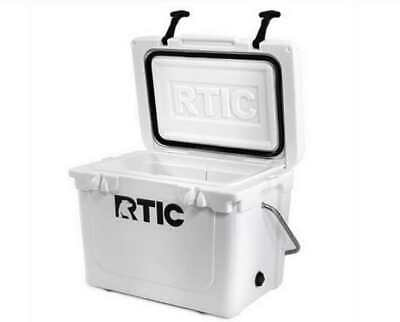 RTIC 20 Qt. Roto-Molded Heavy Duty Commercial Grade White Cooler