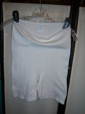 Vintage Bloomers Granny Panties White Cotton Verna Size Large Made in USA
