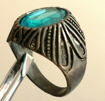 Rare Extremely Ancient Medieval Ring Metal Color Silver With Stone