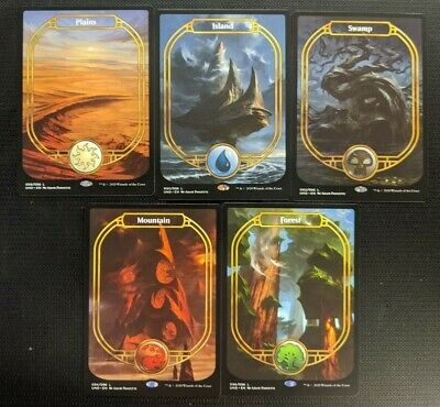 Magic Mtg Unsanctioned ~ Set Of All 5 Non-Foil Full Art Land Cards ~ Near Mint