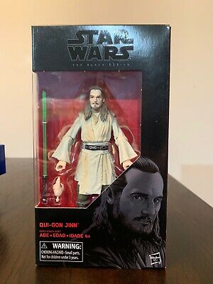 """QUI-GON JINN Star Wars BLACK SERIES 6"""" inch Action Figure #40 NEW 100% AUTHENTIC"""