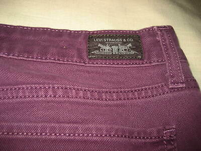 Levis Skinny 524 Size 11m Burgandy Plum Jeans Made in Cambodia