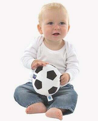 New Playgro My First Soccer Ball Football Black & White Baby Soft Chime Toy