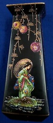 Algiers Made In England Hand Painted Vase decorated with Japanese Lady