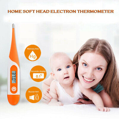 Soft Head Electronic LCD Thermometer Digital Baby Adult Medical Body Fever