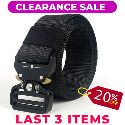 Tactical Belt Military Style Nylon Heavy Duty Quick Release Hunting Training