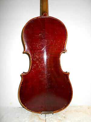 "Antique Old Vintage German ""Esther - Sachsen"" 2 Pc. Back Violin - No Reserve"
