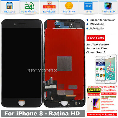For iPhone 8 LCD Screen Replacement Digitizer 3D Touch Assembly Black