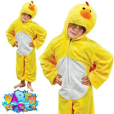Kids Chick Costume Tabard Childs Chicken Easter Boys Girls Fancy Dress Outfit