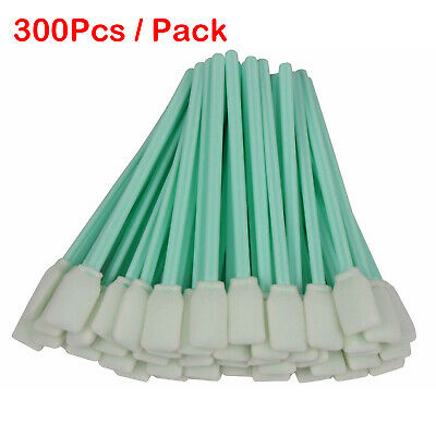 300pcs Foam Sticks Cleaning Swabs For Epson/Mutoh/Roland/Mimaki Printer Camera