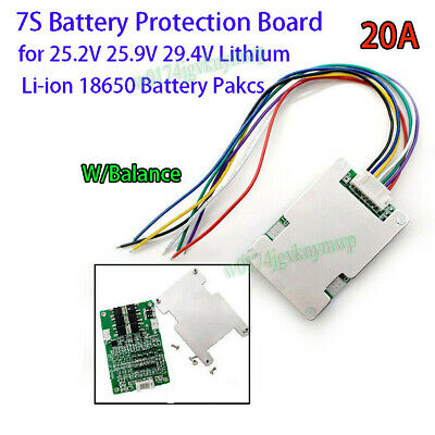 3S 4S 5S 6S 7S BMS Protection Board W/ Balance for 18650 Li-ion Lithium Battery