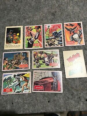 Vintage 1966 Batman Robin Weeties Cereal Trading Cards Job Lot Of 9