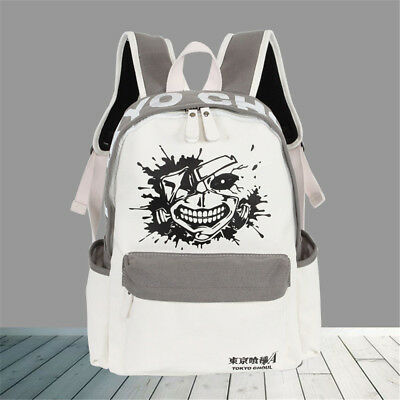 Anime Tokyo Ghoul Women Canvas Backpack with Solid Bag Rucksack Laptop Satchel
