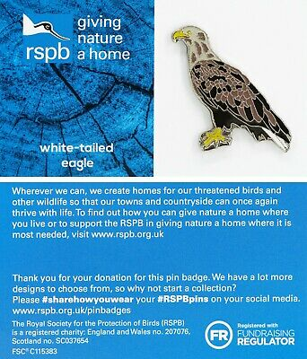 RSPB Pin Badge | white tailed eagle standing  | GNAH BLUE  | [01666]