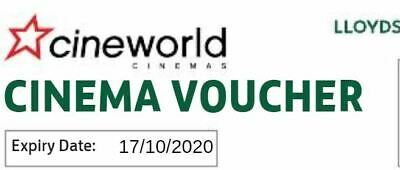 lloyds 1x Cineworld Cinema Adult/Child 2D Movie Ticket use by 17OCT2020 2359