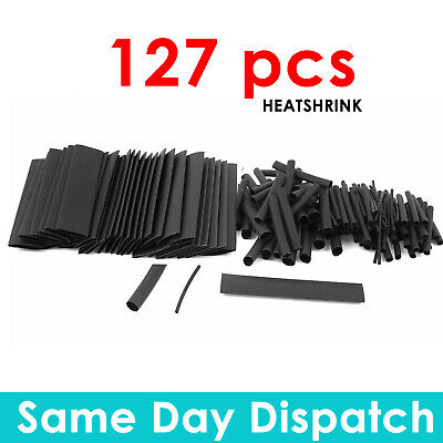 Heat Shrink Tubing Sleeve Wire Wrap Sleeving 127Pcs Car Cable Shrinking Tube 1:2