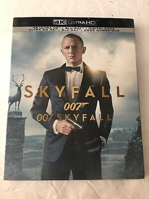 007 Skyfall (4k Ultra HD + Blu-Ray + Digital Code) New with Slipcover