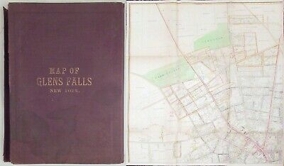 1892 Map of Glens Falls, New York published by R. S. Cunningham & Co