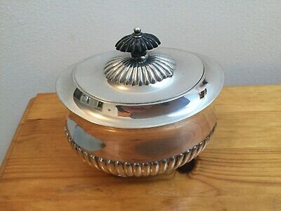Silver Sugar Bowl With Hinged Lid - Hallmarked